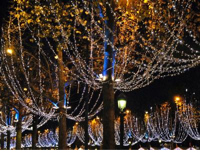 The Christmas lights in Paris